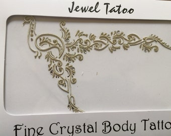 Body DIY cut soave decorate body or just use as an arm into shoulder wearable Art crystals by swarovski