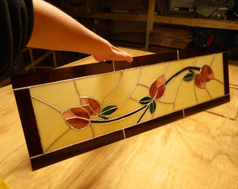 Custom Sidelight Stained Glass Panel - Tulip Panel