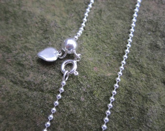 """ADJUSTABLE 1.5 mm Sterling silver ball chain. The only chain you need! Adjust to an length up to 24"""""""