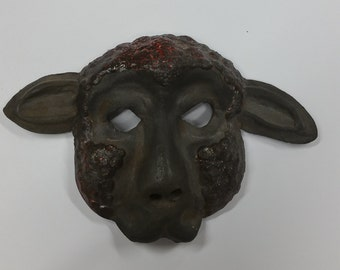 Black Sheep - earthenware lamb mask