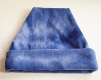 Blue Fleece Slouchy Hat, Blue Slouchy Cap, Blue Beanie Hat, Blue Beanie Cap, Blue Beanie, Blue Fleece Hat