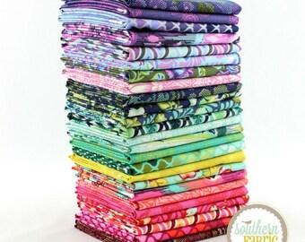 "Eden - Half Yard Bundle - 25 - 18""x44"" Cuts - Tula Pink - Free Spirit Quilt Fabric"