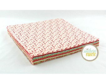 Little Ruby -Flannel Layer Cake by Bonnie and Camille for Moda (55130LCF) 10 INCH Quilting Fabric