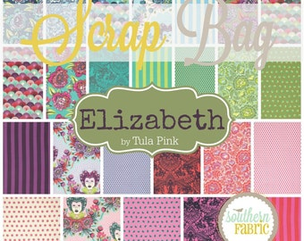 Elizabeth - Scrap Bag Quilt Fabric Strips by Tula Pink for Free Spirit