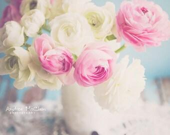 Ranunculus Bouquet ~ 8x10 photo print