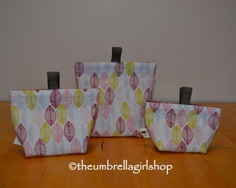 Ready to ship-Leaves Reusable Snack Bags - Set of 3