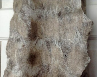 Nuno-felted luxurious long scarf