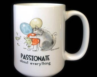 Gift for Cat Lover | Cute Coffee Mug | Gift for Cat Person | Cat Mug | Passionate | Cat Lover | Coffee Mugs | Scorpio | Cat Humor | Cat Lady