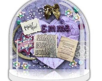 Bat Mitzvah gift, snow globe jewish, Mazel Tov, personalised Jewish Gift, jewish Gift, Jewish keepsake, Bat Mitzvah girl, Bat Mitzvah party.