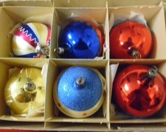 Vintage box Christmas ornaments, Czechoslavakia  ornaments, Vintage Christmas, old glass ornaments