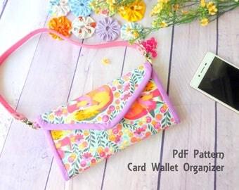 Trifold Wallet Digital Pattern, Wallet Pattern, Card Organizer Pdf Pattern,  credit card wallet, Downloadable Pattern, Wallet Pattern