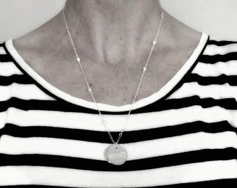 Name Necklace Silver , Mothers Day Gift , Gifts for Mom , Mom Necklace 925 Sterling Silver