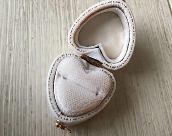 Tiny Vintage Heart Shaped Ring Presentation Box