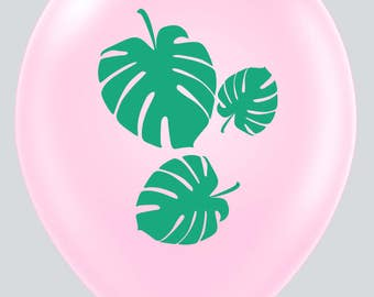 Palm Leaf Double Sided Pink Balloon- set of 6