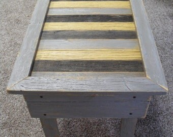 Small Yellow Scrap Coffee Table