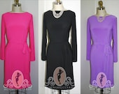 Marilyn's Mexico Wiggle Dress- Jersey Knit- Custom Made, Casual Pinup 60s 1960s Everyday Work
