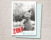 "New Years Card, Modern New Years Card, Photo New Years Card, Holiday card, Printable New Years Card (""2016 Happy New Year"")"
