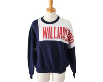 Vtg 80s Williamsport High School Sweatshirt / navy blue cotton blend / Men Women L, University Place Clothing Co