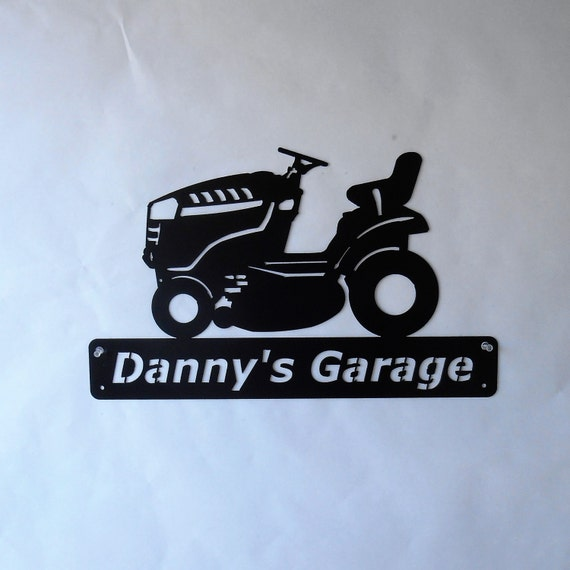 Lawn Mower - Lawn Tractor - Man Cave - Mowing - Barn - Riding Mower - Garage Sign -Satin Black