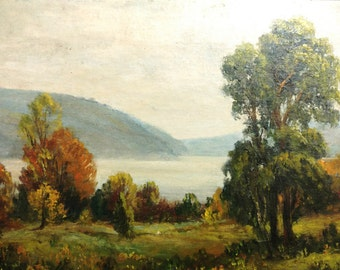 Landscape Painting Oil on Board