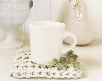 Crocheted Trivet-Mug Rug