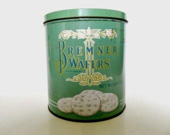 Vintage Bremner Wafer Cracker Tin