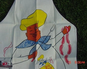 Vintage Big Boy Barbecue Grill Apron  17 - 449