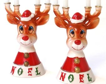 MCM Lipper & Mann Deer Candelabra, Kitsch Christmas Decor