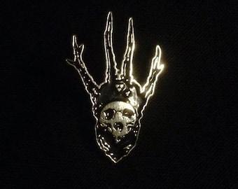 Horned Skull Pin
