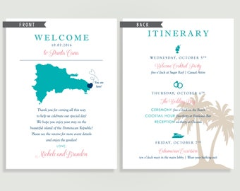 Destination Wedding Welcome Note - Welcome Letter - beach tropical -  Personalized Printable File or Print Package Available 00100-WNA6