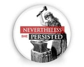 """Nevertheless She Persisted Large 2.25"""" Magnet"""