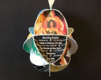 ABBA Album Cover Ornament Made Of Repurposed Record Jackets