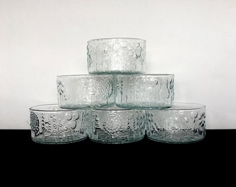 FLORA Oiva TOIKKA Set 6 Dessert Bowls IITALA Finland