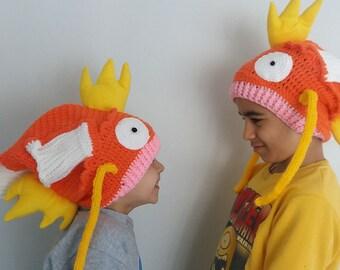 Magikarp (Pokémon) inspired crochet hat,Magikarp  Hat Pokemon Go