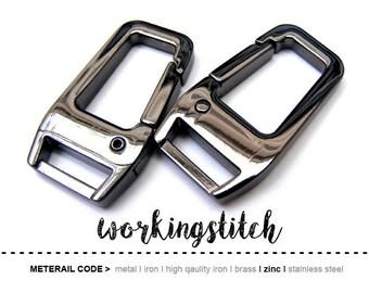 2pcs 1/2 inch (inside bar) ZINC alloy push gate hook Swivel hook Clasps