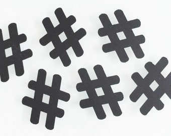 50 Pieces of # Hash Tag Confetti - Perfect for parties and available in your choice of colors