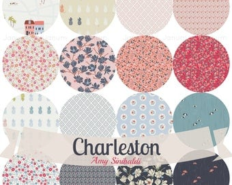 Fat quarter bundle from the Charleston collection by Amy Sinibaldi for Art Gallery fabrics - complete bundle
