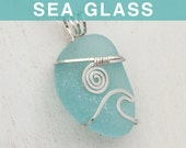 Light Aquamarine Sea Glass Pendant