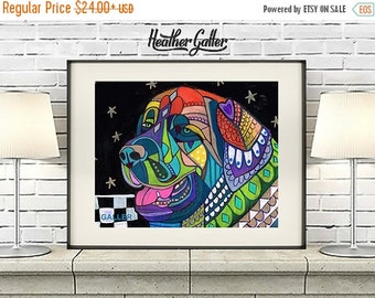 50% Off Today- Leonberger art dog  Art Print Poster by Heather Galler LEO Art (Hg583)