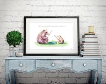 Bear and Bear Cub Illustration