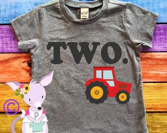 Birthday Shirt tractor birthday number Any Age birthday shirt Two One Three Four Tractor party shirt truck birthday shirt Birthday farm