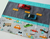 Car Caddy Roll Up w/ Road Play Mat - On the Go - (Holds 5 Toy Cars) - Ready to Ship (Car Wallet/Holder/Travel Matchbox Car Carrier)
