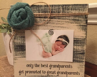 Great Grandparents Frame Gift Grandma Grandpa Personalized Frame Best Parents Promoted To Grandparents Frame For Parents