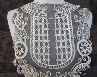 Cute embroidered  applique  black  color 1 pieces listing