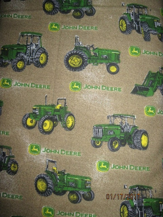 18x22 John Deere Cotton Fabric Fat Quarter Brown With