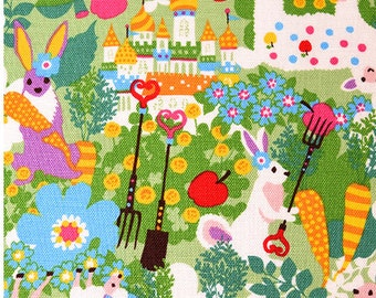 """2017 Kayo Horaguchi Sheep and Rabbit Spring Easter  cotton Linen Animalls   Deer  - 50cm or19""""length by 110cm or 42"""" wideth"""