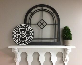 "Vintage Inspired 20.5"" x 24"" Arch Window Frame"