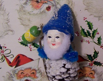 pine cone gnome ornament