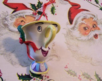 disney chipped teacup ornament