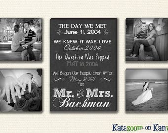 Perfect for Wedding or Anniversary The Ultimate Special Dates Canvas Wall Art